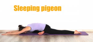 sleeping pigeon pose