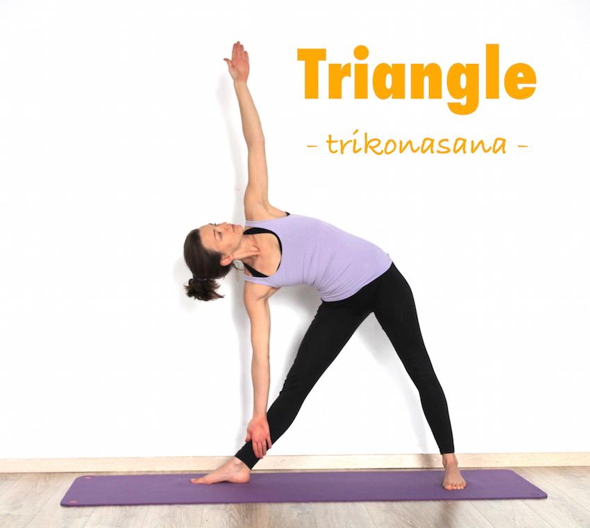 How to do Trikonasana (Triangle pose) - Yoga poses step by ...